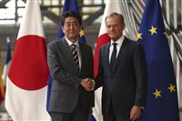 安倍晋三首相、EU首脳と会談 トゥスク大統領「令和」に祝意、首相はWTO改革に意欲