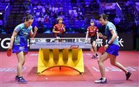 日本勢対決は「みまひな」に軍配 世界卓球女子複準決勝