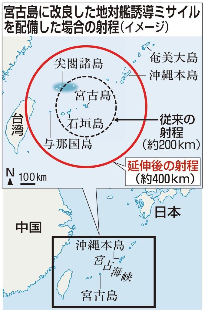 本M宮古島に改良した地対艦誘導ミサイル・カラー