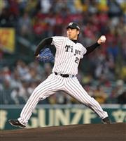 阪神の元左腕エース、OB井川慶さんが始球式