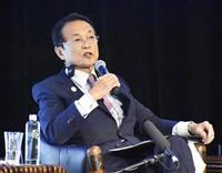 麻生氏、アジア開銀に対中国融資の縮小求める