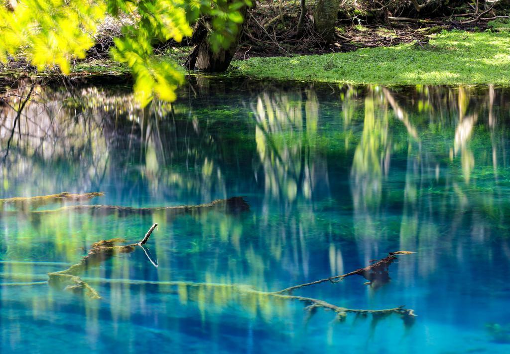 ブルーに染まる信仰の泉 山形「丸池様」 ※2次使用禁止