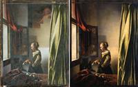 フェルメール「窓辺で手紙を読む女」後世の人が上塗りと判明