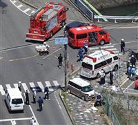 大津の死傷事故、逮捕されたのは52歳と62歳の女