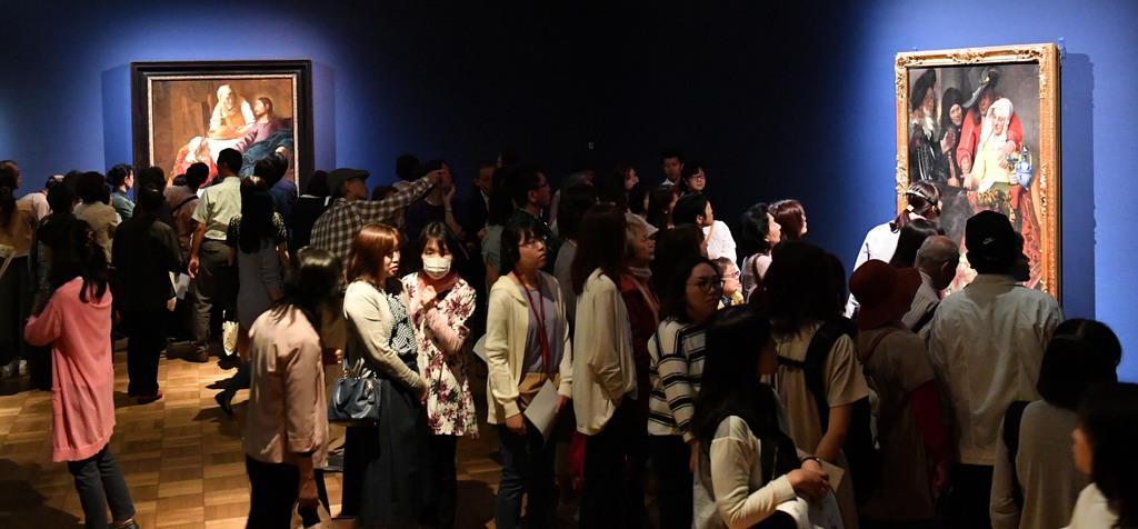 フェルメール展 会期が残りわずかとなり盛り上がるフェルメール展=10日、大阪市天王寺区の大阪市立美術館(南雲都撮影)