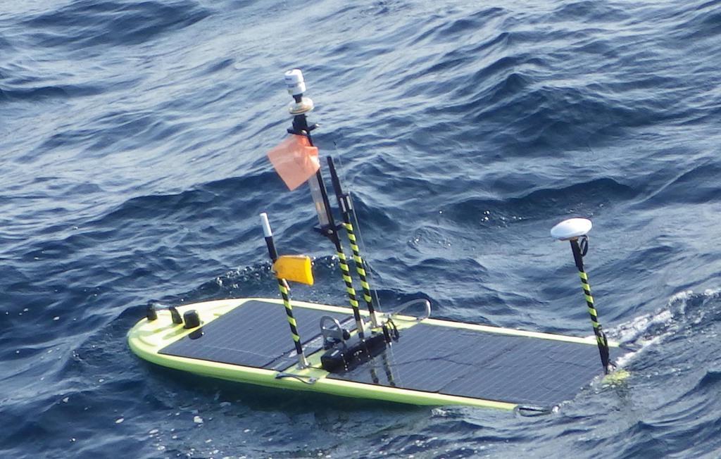 韓国側が投入している海上ドローンと同型とみられる自律型海洋観測装置(AOV)=海上保安庁提供