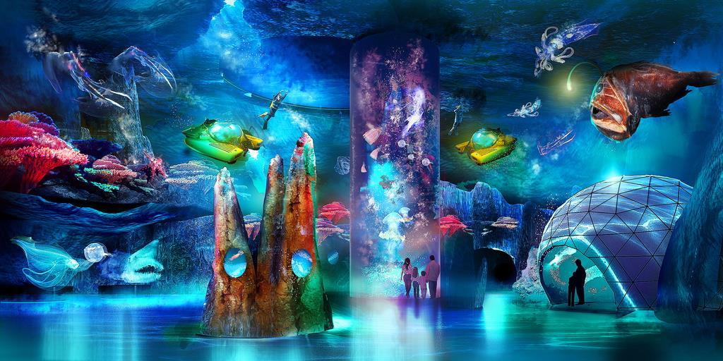 シンガポールで開設が予定される巨大海洋博物館のイメージ図(ゲンティン提供)