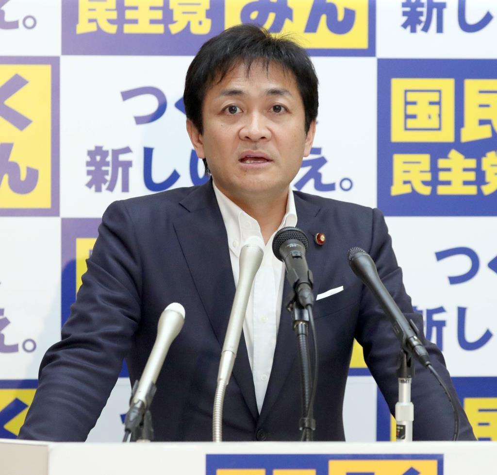 国民民主党・玉木雄一郎代表=8日午後、国会内(春名中撮影)