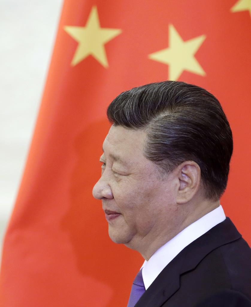 習近平国家主席=14日、北京(AP)