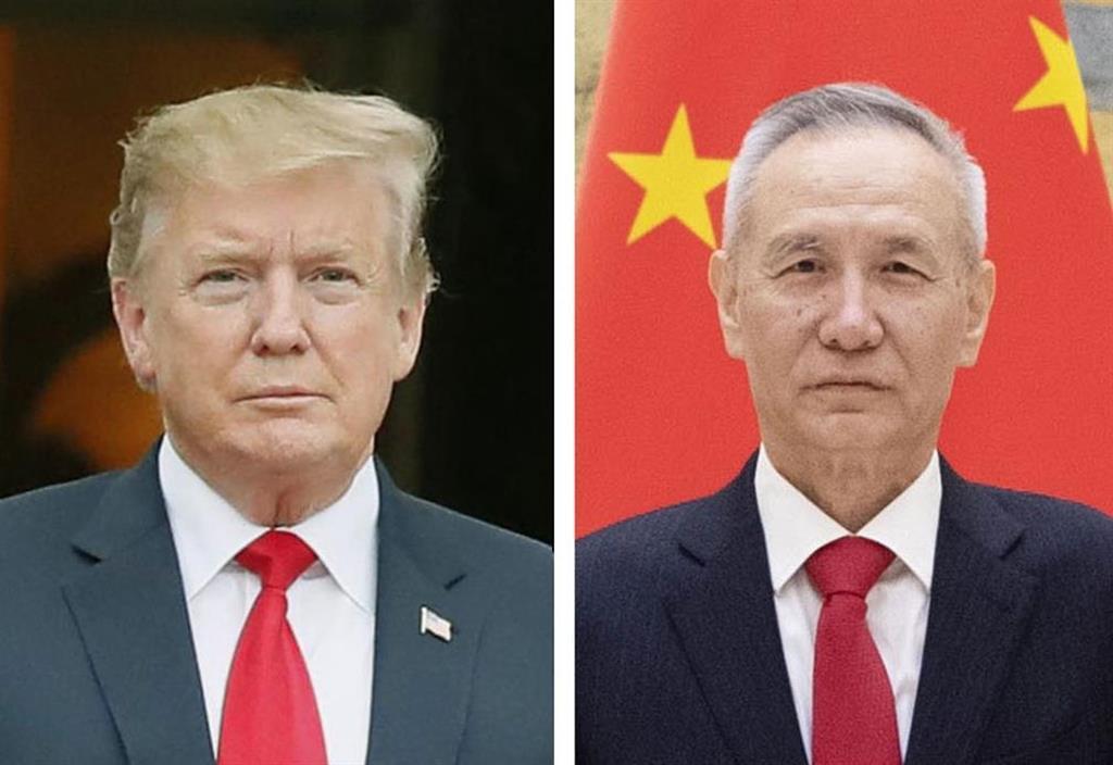 トランプ米大統領、中国の劉鶴副首相(新華社=共同)
