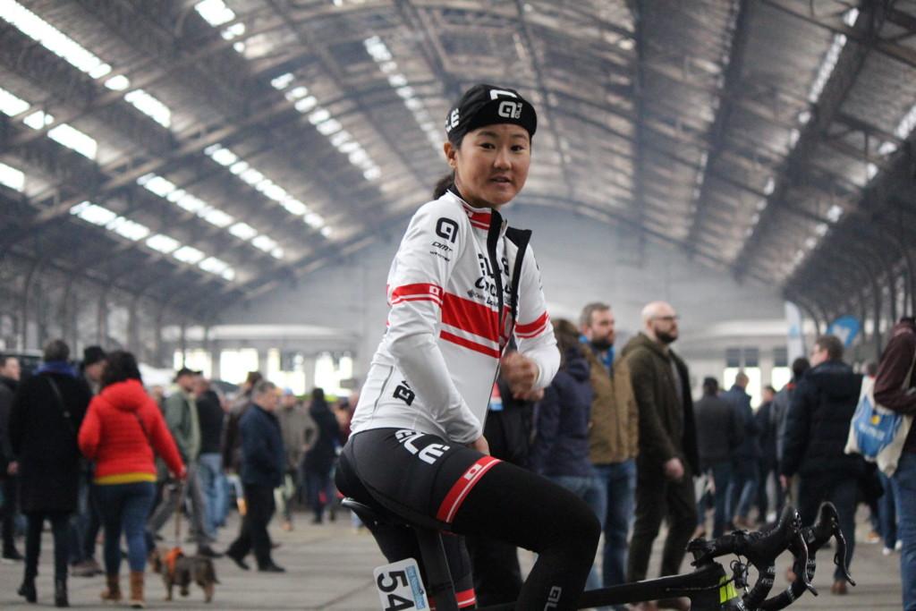 自転車ロードレース女子の国内第一人者として、ヨーロッパのトップレースに参戦している與那嶺恵理 =2019年3月、ベルギー(提供写真)
