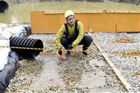 宮崎大などが硫黄山周辺で石灰石使い水質改善実験