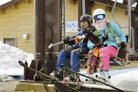 月山スキー場、3日ぶりにペアリフト運転再開 山形