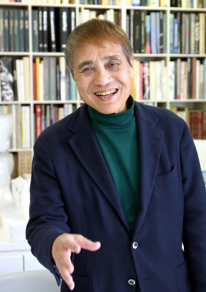 建築家、安藤忠雄さんのイチオシのボクサーはロマチェンコ=大阪市北区(前川潤一郎撮影)