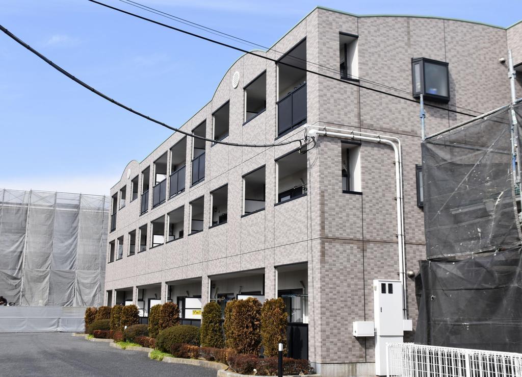 亡くなった栗原心愛さんの自宅があったマンション=千葉県野田市