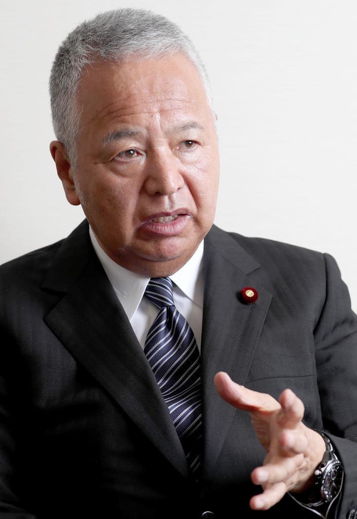 自民党・甘利明選対委員長(春名中撮影)