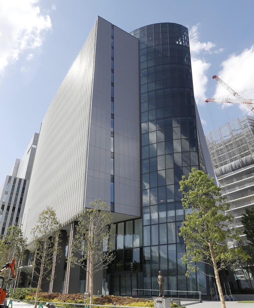 JOCや日本スポーツ協会などが事務局を置く「ジャパン・スポーツ・オリンピック・スクエア」=16日午前、東京都新宿区