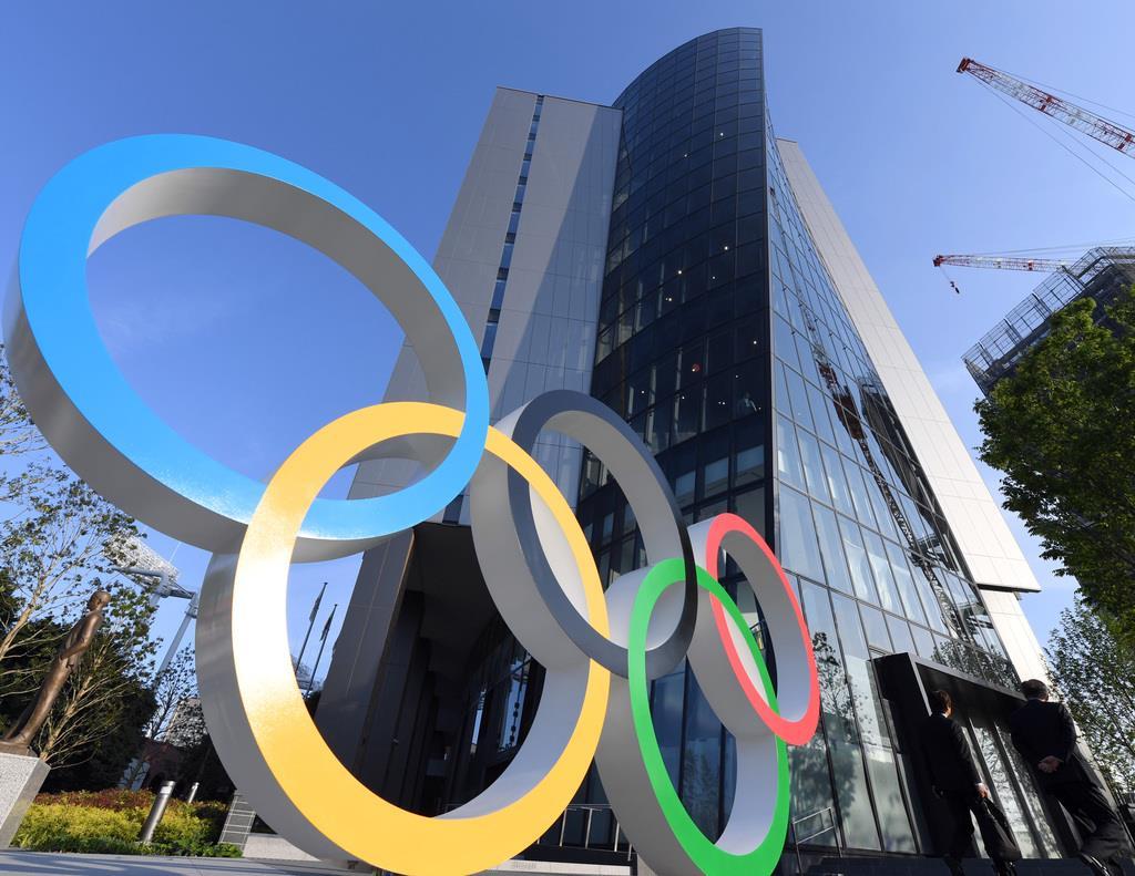 竣工した「ジャパン・スポーツ・オリンピック・スクエア」=16日午後、東京都新宿区(川口良介撮影)