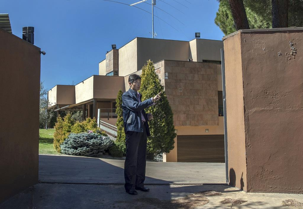 スペイン・マドリードにある北朝鮮大使館(AP)