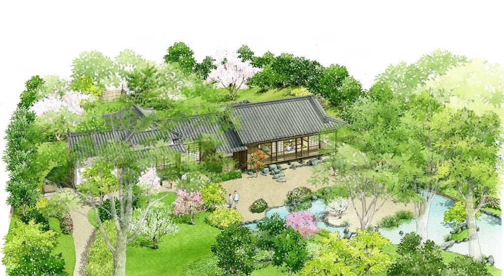 鈴木屋敷の復元イメージ図(海南市提供)