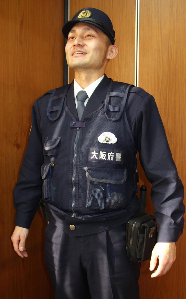 広島カープで5年間プレーした池ノ内亮介さん=寝屋川署