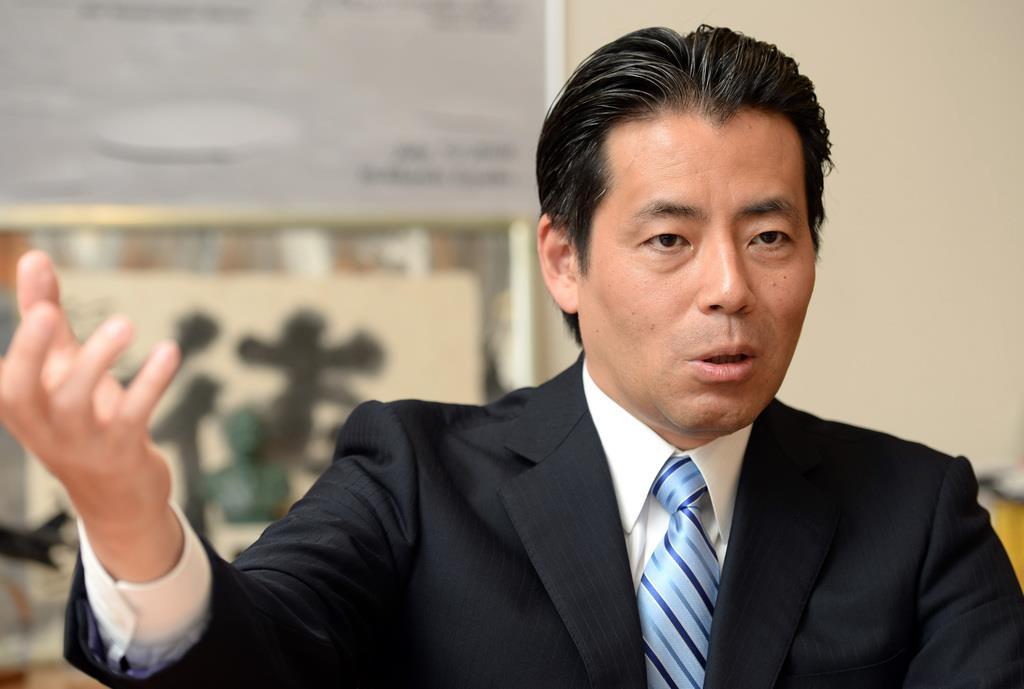インタビューに答える福田達夫衆院議員=15日、東京・永田町の衆院第1議員会館(酒巻俊介撮影)