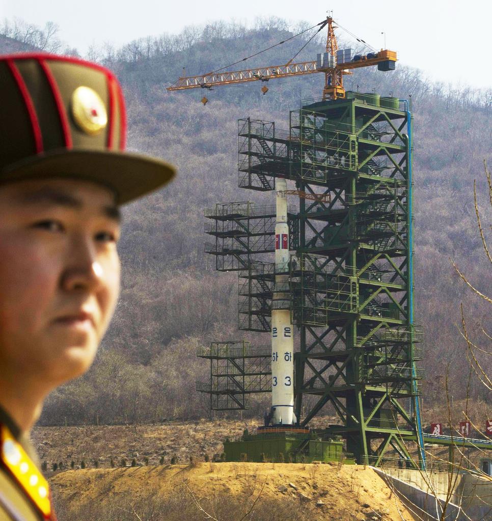 北朝鮮・東倉里(AP)