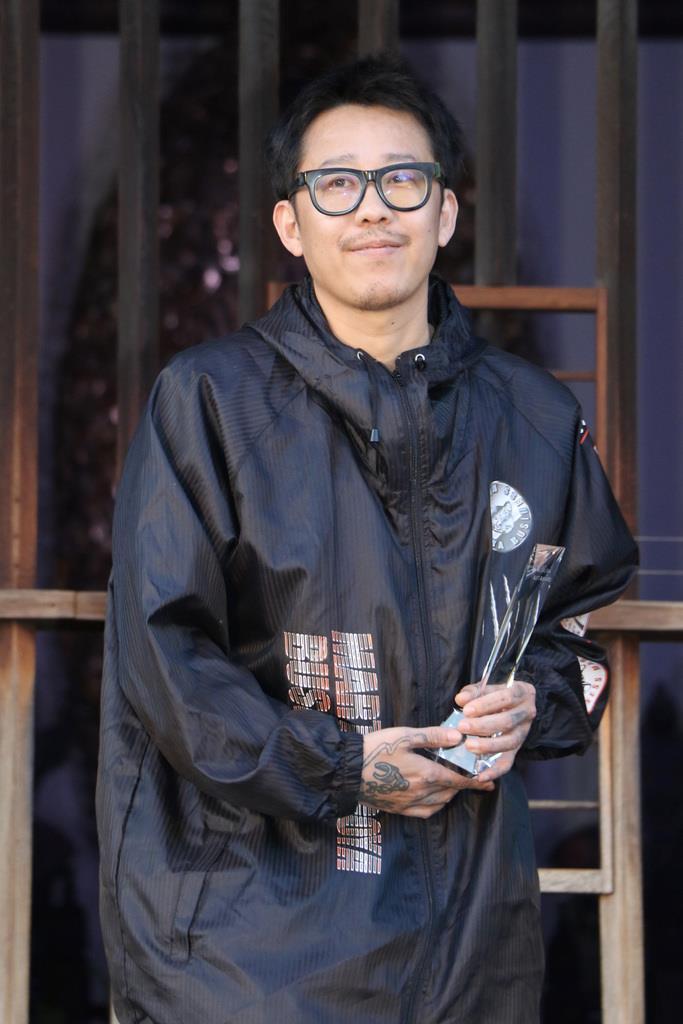 第1回「野村アートアワード」の若手賞を受賞した中国の程然氏=京都市東山区の東福寺