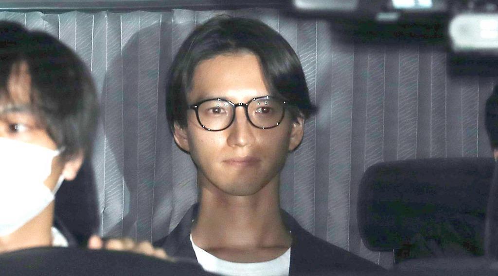 逮捕された元KAT-TUN田口淳之介容疑者=22日午後、