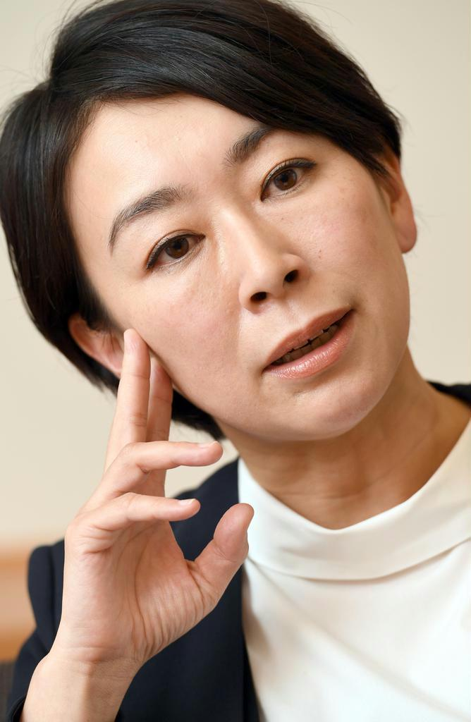 山尾志桜里・立憲民主党衆院議員(酒巻俊介撮影)