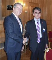 河野外相「紛争解決の機能果たさず極めて遺憾」 WTO事務局長と会談し伝達