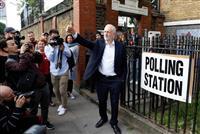 英国で欧州議会選の投票始まる 離脱の是非、再び問う