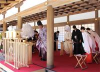 神域に近い場所で結婚式 上賀茂神社本殿前、5年ぶり再開