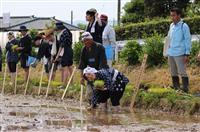 彬子さまが学生らと田植え 新潟コメ作りワークショップ