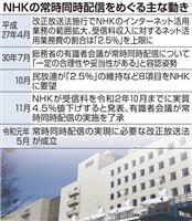 NHK、ネット同時配信へ 改正放送法成立、年度内に