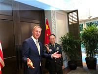 米中の国防トップ会談、北非核化で一致 アジア安保会議開幕