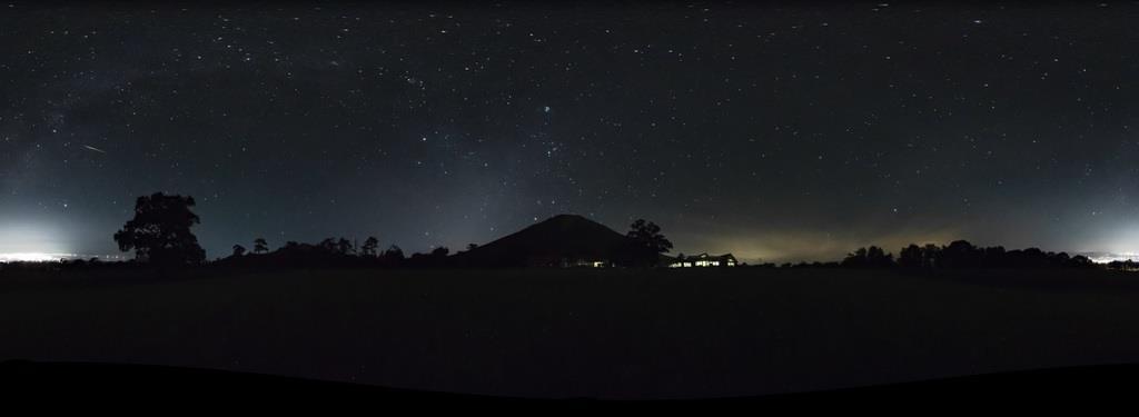大山で撮影されたVR動画の一場面(鳥取県提供)