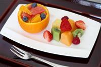 【ヒューリック杯棋聖戦】豊島棋聖は定番のフルーツの盛り合わせ、渡辺二冠はコーヒーにたま…