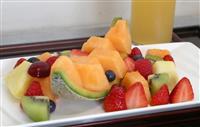 棋聖戦第1局 午後のおやつは「フルーツ」と「和菓子」