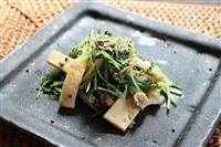 【料理と酒】ちりめんじゃこと水菜の炒め