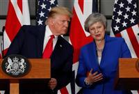 米英首脳が会談 FTAに意欲のトランプ氏、EU離脱迫る