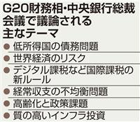 デジタル課税などに道筋 福岡で8日開幕G20財務相中銀総裁会議