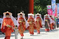 「梅道中」令和も続く 京都・下鴨神社と上賀茂神社に奉納