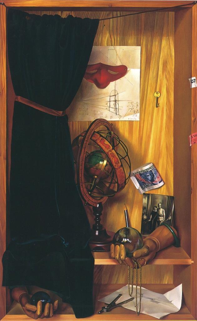 城戸義郎「天球儀(トロンプルイユ)」(平成5年)=笠間日動美術館蔵