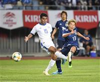 サッカー日本戦・速報(3)永井が先制ゴール 華麗な切り返しから左足振り抜く