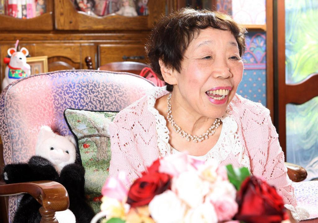 作家の田辺聖子さん=2008年4月14日、兵庫県伊丹市