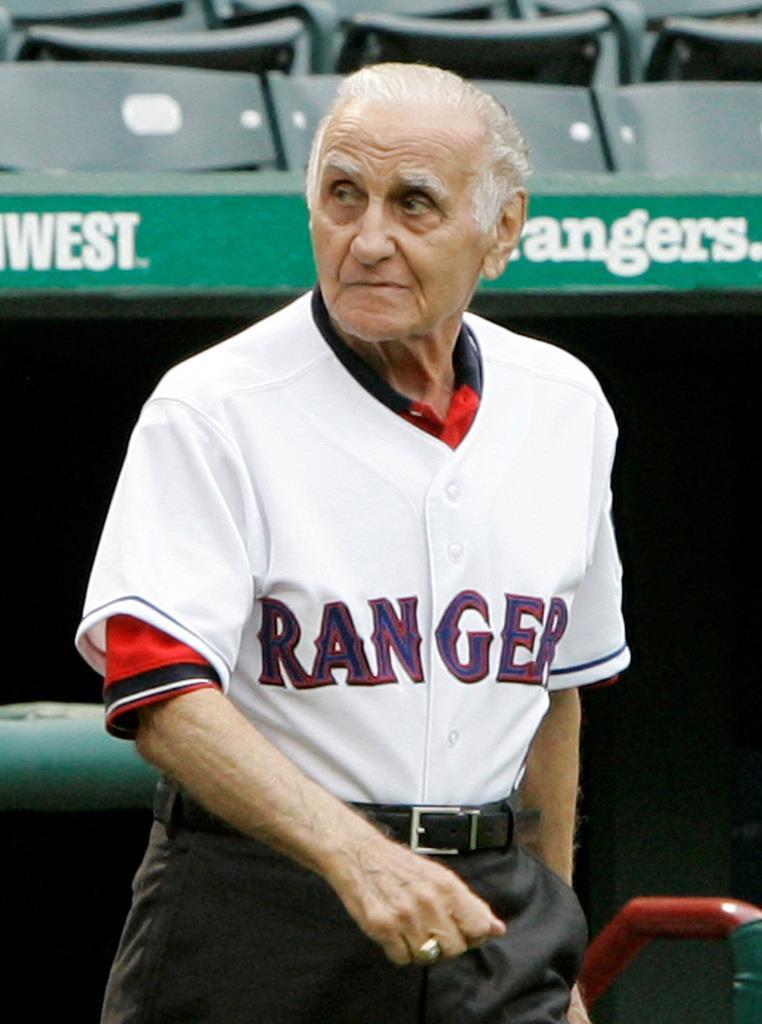 8日に死去した米大リーグのフランク・ルケーシー元監督。写真は2008年8月、レンジャーズ監督時代=テキサス(AP)
