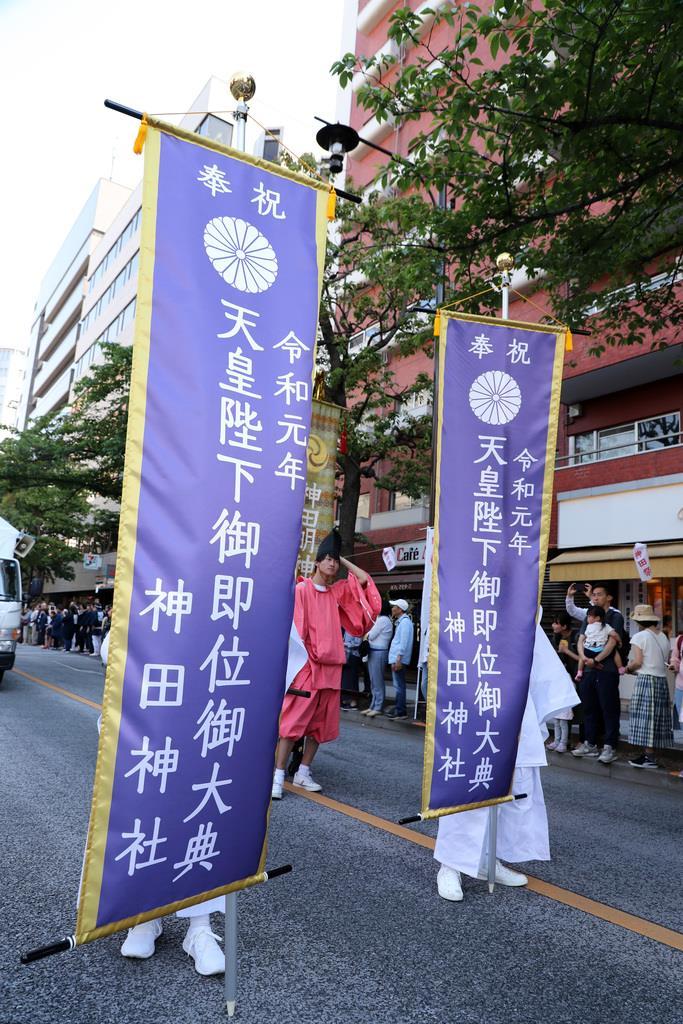 神田祭の「神幸祭」=5月11日、東京都中央区(飯田英男撮影)