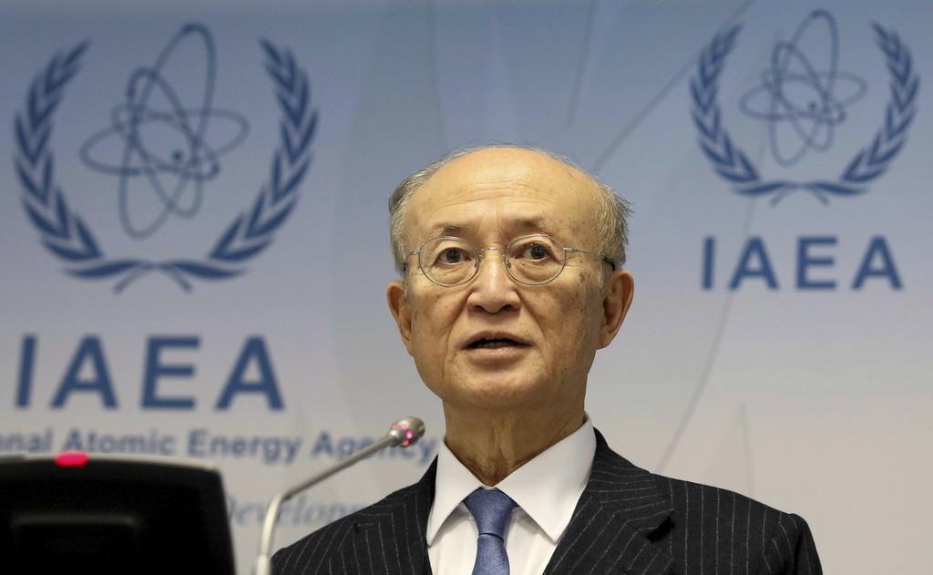 IAEAの天野事務局長(AP)