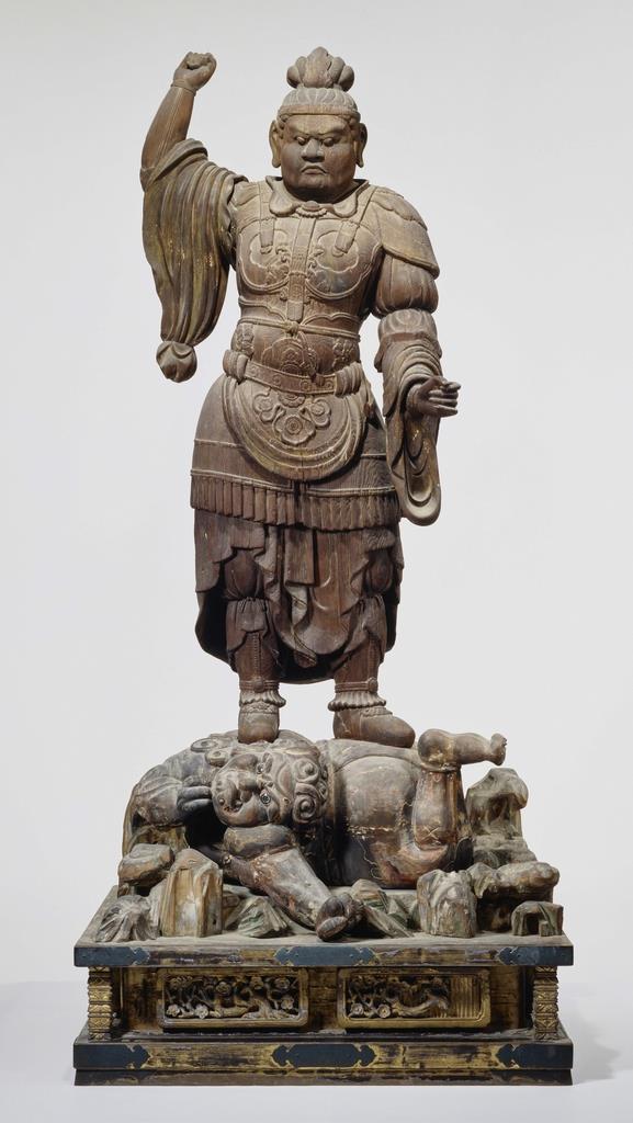 唐招提寺の持国天立像(奈良国立博物館提供)